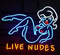 Live Nudes Glas Neon Licht Zeichen|Neonröhren & Röhren|Licht & Beleuchtung -