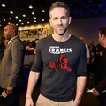 2017 New Deadpool Ryan Reynolds Original T-Shirt Finding Francis Fashion Active T-shirt Cotton Adult Men Women Summer Loose Tee