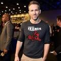 2017 Nueva Deadpool Ryan Reynolds Camiseta Original de Encontrar Francis Moda Activo T-shirt de Algodón Hombres Mujeres Del Verano Camiseta Floja