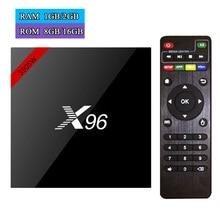 ÚJ! Eredeti X96 X96W Android 7.1 Smart TV doboz Amlogic S905W Quad Core 2G / 16G Bluetooth 4.0 WiFi 4K Médialejátszó Set top Box