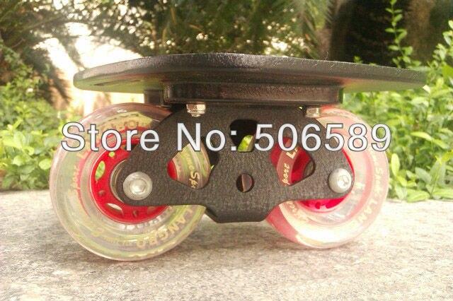 Livraison gratuite freeline patins noir planche roues transparentes langbo 6 génération outdo roulement