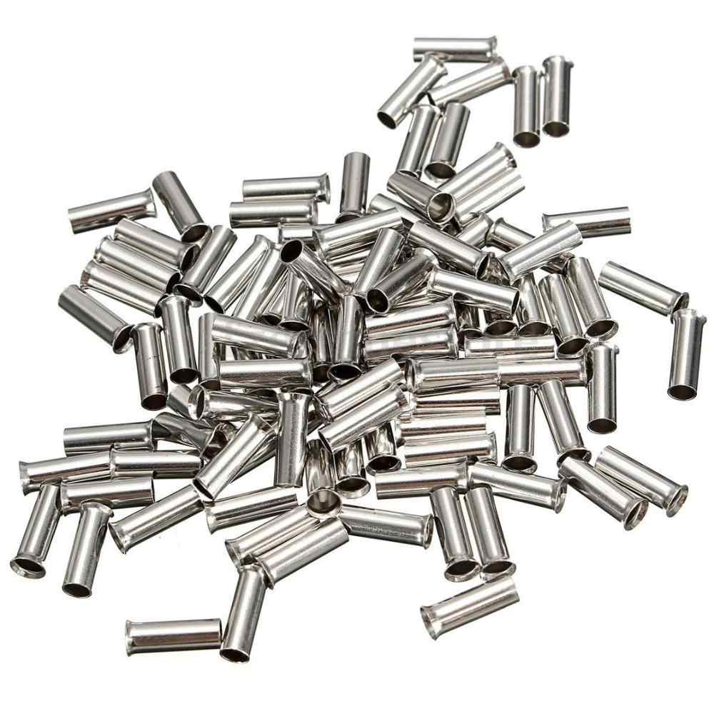 100PCS Non-Insulated Wire Connector Ferrules Electrical Cable Terminal Copper Bare Tinned Crimp Terminal 0.5mm2-16mm2 22-10 AWG