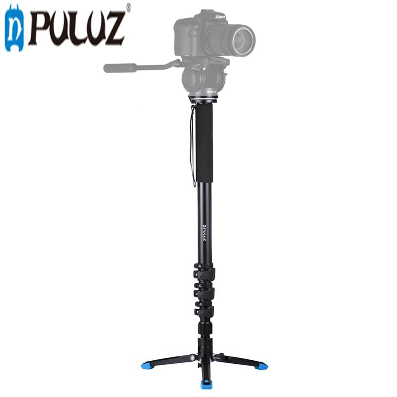 PULUZ PU3015 Four-Section Aluminum-magnesium Alloy Self-Standing Monopod with Support Base Bracket Tripod Accessories средство для удаления накипи topperr 3015