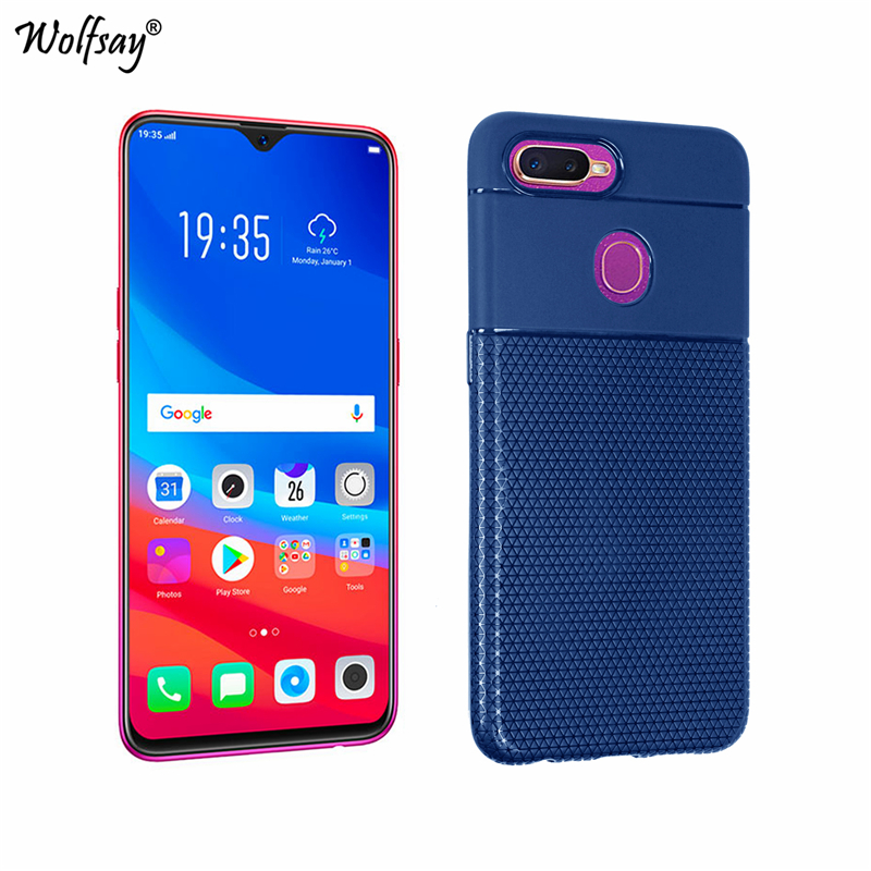 """Oppo F9 Case 6.3"""" Triangle Classical Phone Case For Oppo F9 Cover Ultra-Thin TPU Silicone Phone Shell Cover For Oppo F9 Pro Case"""