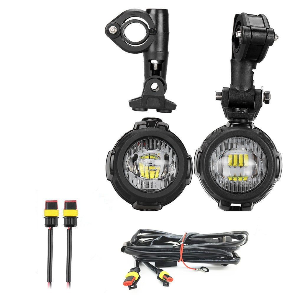 Bakuis Motorcycle Led Fog Light Safety Driving Lamp With Bike Wiring Harness Guard 2 Pcs Protective