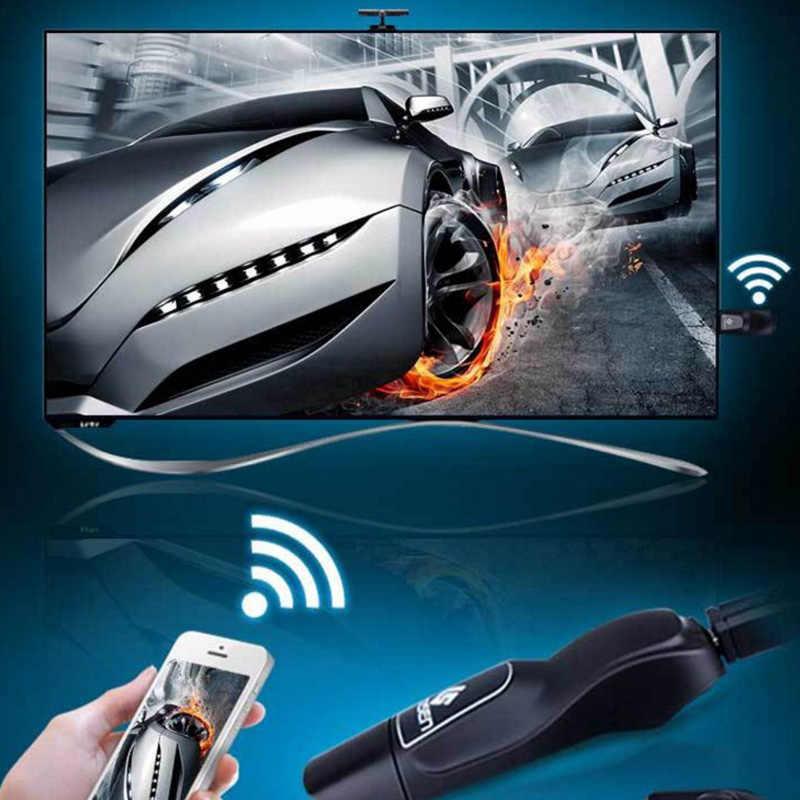 Pantalla de doble banda inalámbrica Airplay Dongles VGA + HDMI HD 2,4G + 5G con Tablet para compartir imágenes de teléfono Push Treasure Dongles