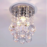 HOT Free Shipping Small Crystal Chandelier Lustre Light With Top K9 Crystal And Stainless Steel Frame