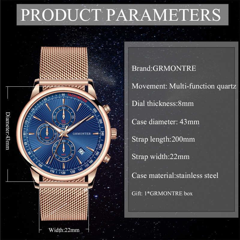 Reloj de pulsera minimalista con correa de malla delgada impermeable para hombre reloj deportivo de cuarzo
