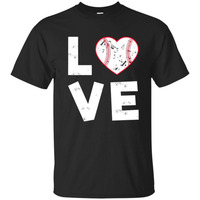 Baseballer Softball Love Heart T Shirt For Mom Dad Or Team