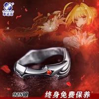 Anime destino Grand order saber Nero aestus estus 925 anillo de plata esterlina