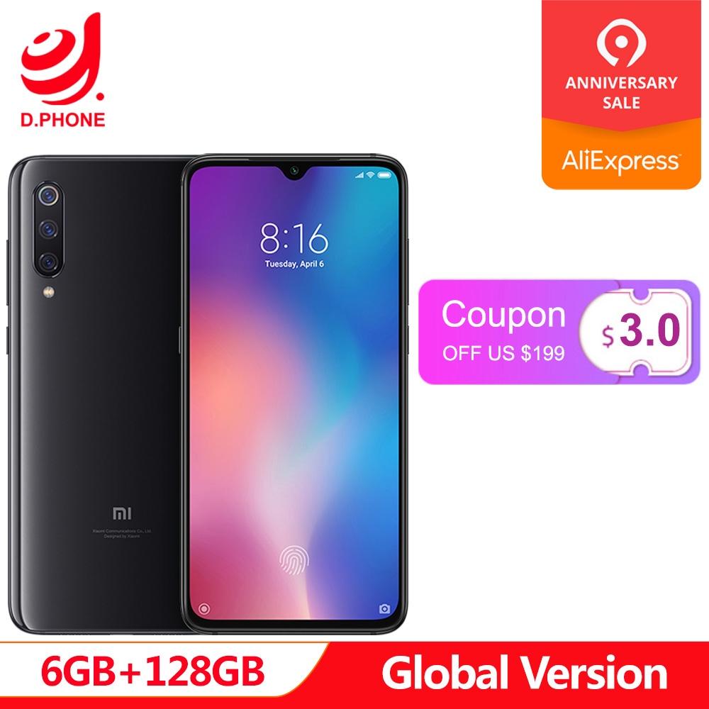Global Versão Original Xiao mi mi 9 9 6 GB 128 GB mi Snapdragon 855 Octa Core 6.39