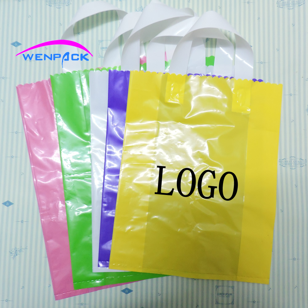 Custom Printed Logo Gift Plastic Bag Customized Handle Ping And Packaging In Bags Wring Supplies From Home Garden On Aliexpress