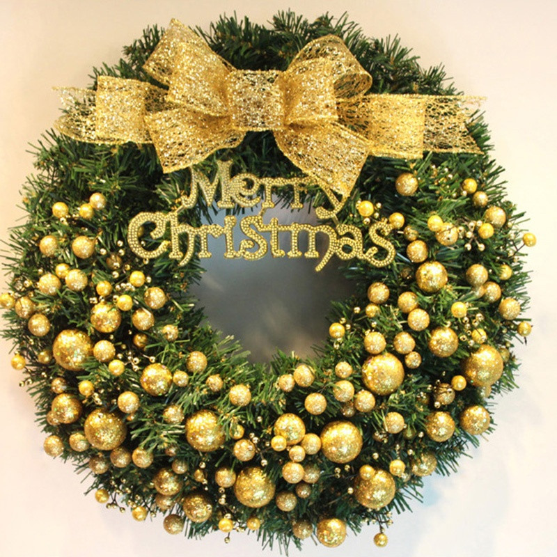 40cm Fashion Merry Christmas Wreath Garland Window Party Home ...