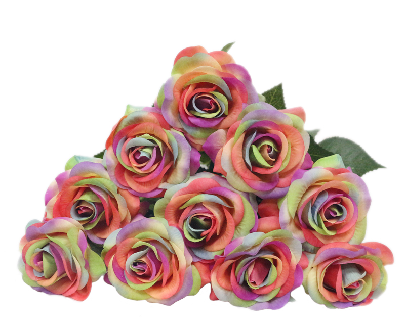 JAROWN Artificial Real Touch Hand Feel Rose Latex Flowers For Valentine`s Day Preparation Wedding Decoration Home Decor (9)