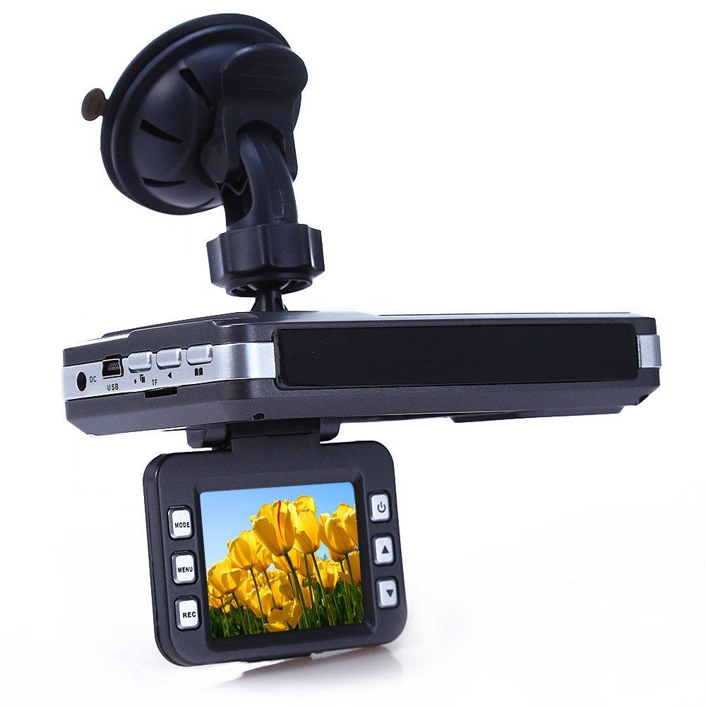 Prix pour Voiture DVR Caméra Détecteur de Radar Full HD 2 pouce LCD Russe anglais Voix avec Laser Logger 140 Degrés Grand Angle Ajouter SD carte
