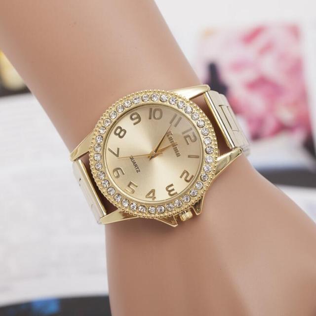 MINHIN Luxury Women Watches Brand Design Gold Silver Steel Quartz Watch Ladies R