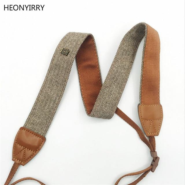 New Universal Adjustable Cotton Leather Camera Shoulder Neck Strap Belt For Sony/ Nikon SLR Cameras Strap Accessories Part