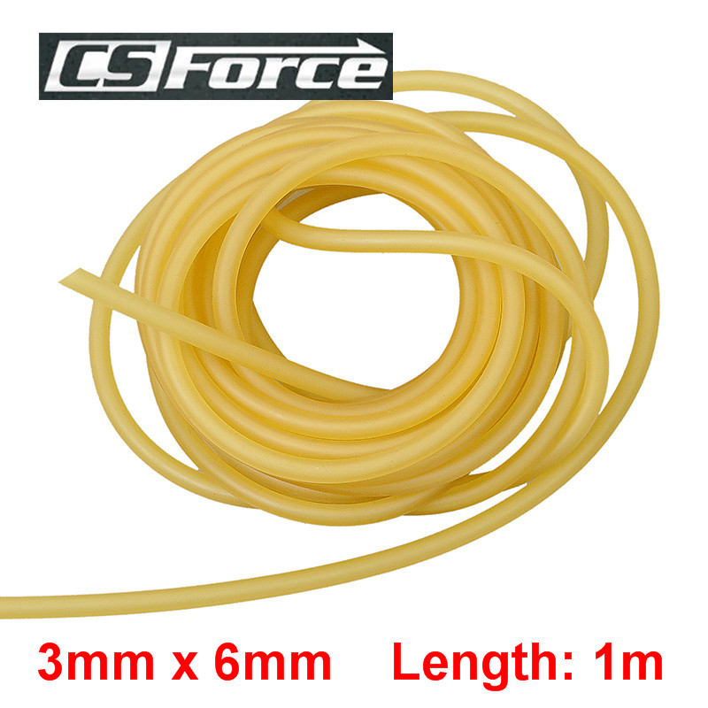 CS Force 3mm X 6mm Latex 1M Rubber Band For Slingshot Catapult Hunting Elastic Part Tourniquet Band Rubber Tube 3060
