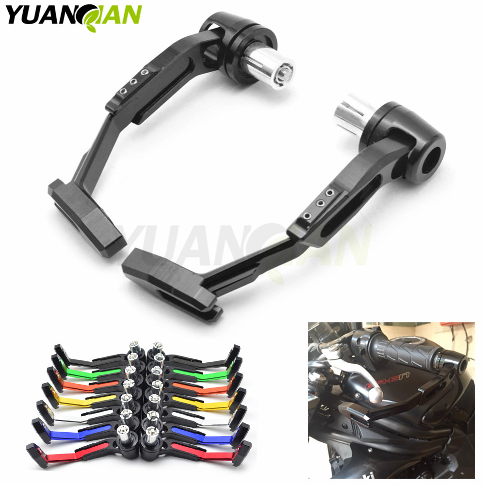 Universal 7/8 22mm Motorcycle Proguard System Brake Clutch Levers Protect Guard For Kawasaki z750 z800 z1000 er6n Ninja300 250 universal motorcycle brake fluid reservoir clutch tank oil fluid cup for mt 09 grips yamaha fz1 kawasaki z1000 honda steed bone