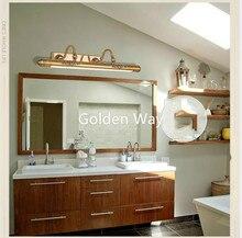 Зеркальная лампа для ванной 52 см/60 см/80 см Водонепроницаемая Ретро Бронзовая подсветка косметического зеркала светодиодный настенный светильник светодиодный светильник настенный светильник