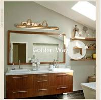 Bathroom Mirror Lamp 52CM/60CM/80CM Waterproof Retro Bronze Cabinet Vanity Mirror Lights Led Wall Light Lamp LED Light Wall Lamp