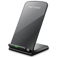 Cargador inalámbrico rápido 10W 9V para el iPhone de Apple 8 X XS XR soporte de escritorio almohadilla de carga inalámbrica para Samsung Note 8 S9 S8 Plus S7 S6