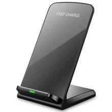 Chargeur rapide sans fil 10W 9V pour Apple iPhone 8 X XS XR support de bureau chargeur sans fil pour Samsung Note 8 S9 S8 Plus S7 S6