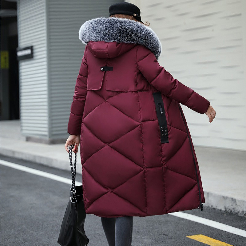 2017 Winter Brand New Parka Coat Women Fashion Thick Warm Fur Hooded Collar Winter Coat Women Long Jackets Windbreaker Clothes 2017 winter new clothes to overcome the coat of women in the long reed rabbit hair fur fur coat fox raccoon fur collar
