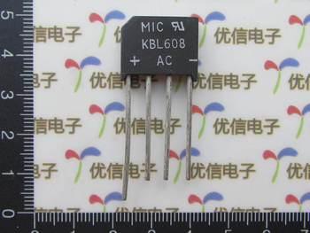 Darmowa wysyłka KBL608 mostek prostowniczy stos most 6A 800 V krzemu prostowniki tanie i dobre opinie Nzluliyuan KBL608 rectifier bridge