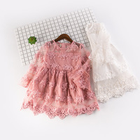 Girl Dress 2 7Y Baby Girl Clothes Summer Lace Flower Tutu Princess Kids Dresses For Girls