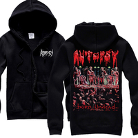 Free Shipping AUTOPSY BORN UNDEAD ABCESS ANATOMIA THROWER MURDER SQUAD COFFINS DEATH HOODIE