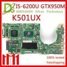 KEFU K501UX For ASUS K501UX K501UB K501U laptop motherboard K501UX mainboard rev2 0 i5 6200U cpu