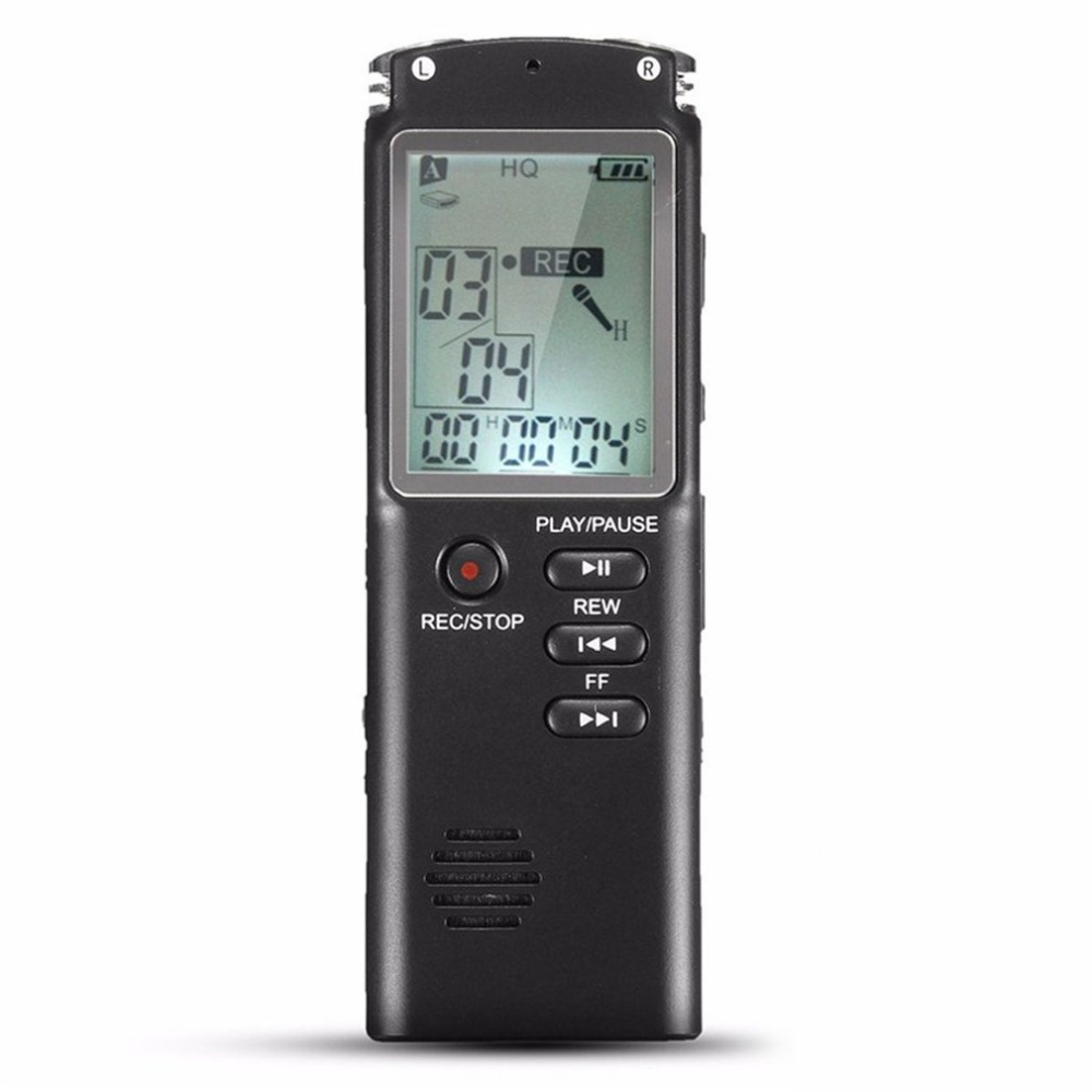 8GB Rechargeable LCD Screen Digital Audio Sound Voice Recorder Dictaphone MP3 Player Phone Call Recording Device 1 6 screen digital voice recorder mp3 player black 8 gb