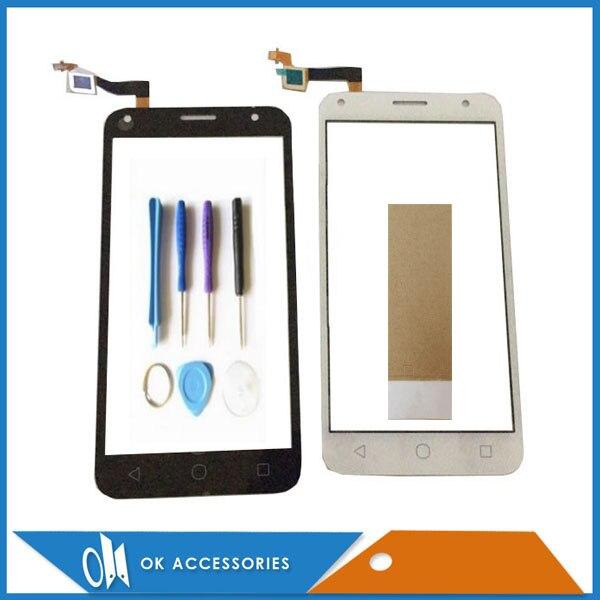 Pour Alcatel Tactile PIXI 4 5.0 OT 5010 OT5010 5010D 5010D 5010E Écran Tactile Digitizer Noir Blanc Couleur Avec Outils Bande 1 PC/Lot.