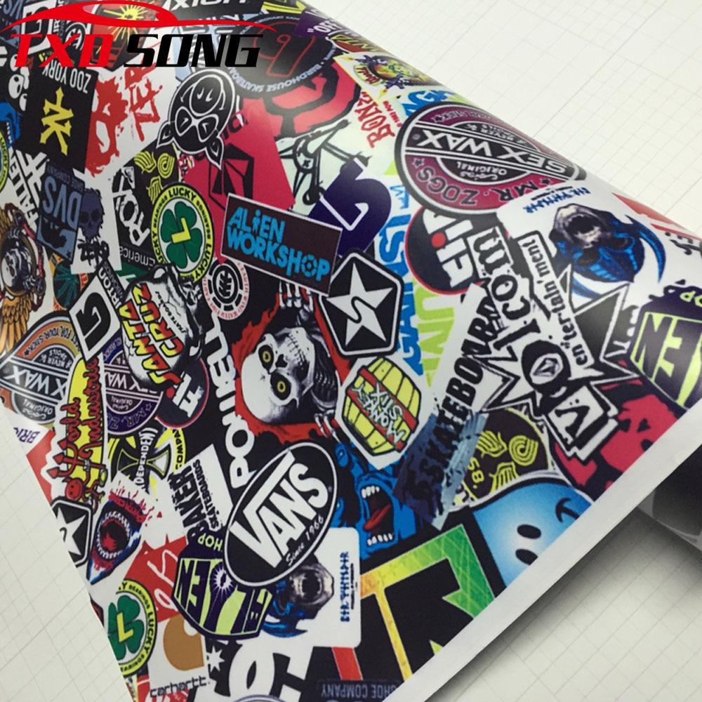 New Type Graffiti Sticker Car Bomb Wrap Sheet Decal Vinyl DIY Styling Car Skate Skateboard Laptop Luggage Decal Wrapping