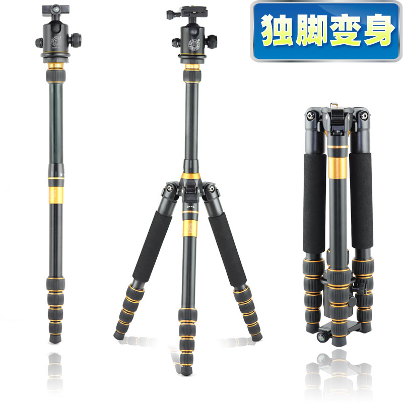 Pro Q777 Professiona SLR camera tripod Q-777 lightweight portable tripod travel monopod  Alpenstock head wholesale FREE SHIPPING hot sale q999 magnesium aluminium tripod portable slr camera q999 tripod monopod variable alpenstock 3 in1 wholese free shipping