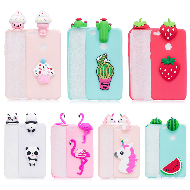 b27bc5a5e Cute 3D Ice-cream Dolls Flamingo Panda Cactus Fruit TPU Phone Case For  Huawei Honor