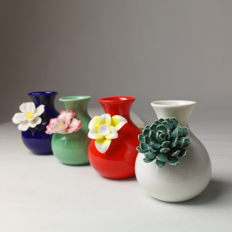 Fresh Mini Ceramic Small Vase Home Decor Gift Ideas And: Ceramic Decoration Fashion Flower Home Living Room Bedroom