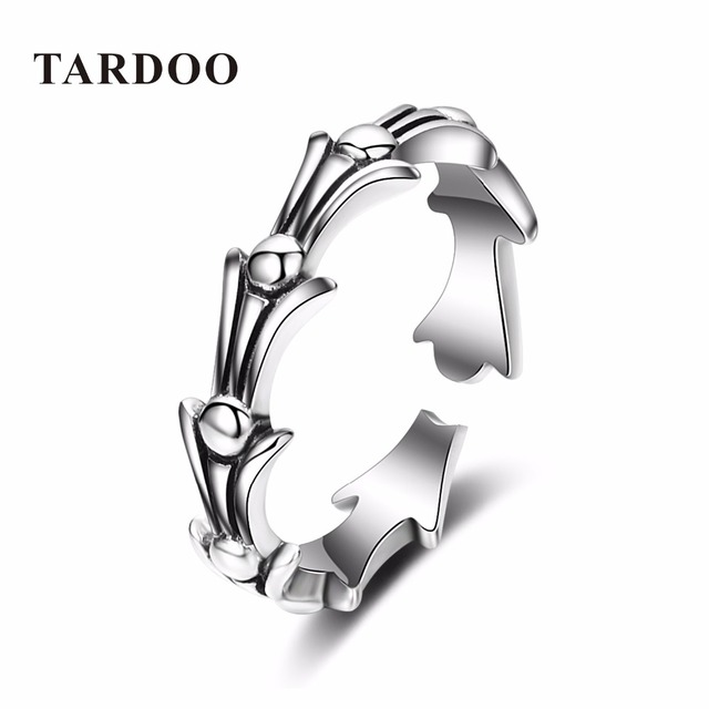 Tardoo Casual Punk Rock Style Gothic Cool Rings for Women & Man Genuine Sterling Silver Rings Fine Jewelry