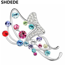 SHDEDE High Quality Crystal from Swarovski Exquisite Brooches For Women Charm Designer Jewelry Accessories -3674