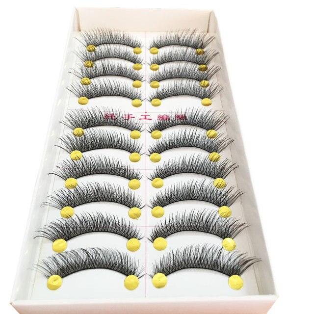 20 Pairs Natural Long Soft Handmade Eye Lashes Extensions Tools