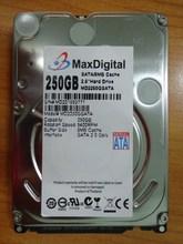 แบรนด์ใหม่2.5 inchฮาร์ดดิสก์250กิกะไบต์5400รอบต่อนาที8เมตรBuff SATAภายในฮาร์ดดิสก์ไดรฟ์สำหรับแล็ปท็อปโน๊ตบุ๊คMaxDigital/MD250GB SATA 2.5นิ้ว