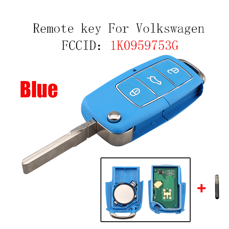 3B Remote key For VW 1K0959753G For VolksWagen Caddy Eos Golf Jetta Sirocco Tiguan Touran 2003-2009 ID48 Chip New style key система освещения duntuo volkswagen lavida touran caddy
