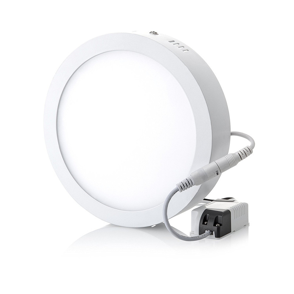 12W 18W Round Led Panel Light Surface Mounted Downlight lighting No cut ceiling down lamp bulbs AC110V AC220V Free Shipping|light left|light guard lightinglight blue corset dress - AliExpress