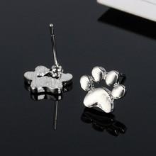 RONGQING 10Pairs/lot Cute Dog/Cat Footprint Stud Earrings Animal Jewelry Gift Women