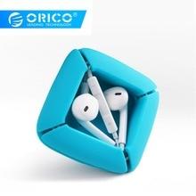 ORICO Winder Кабельный органайзер силиконовые гибкие зажимы для управления держатель кабеля для наушников кабели для наушников ELR1 черный/серый/синий