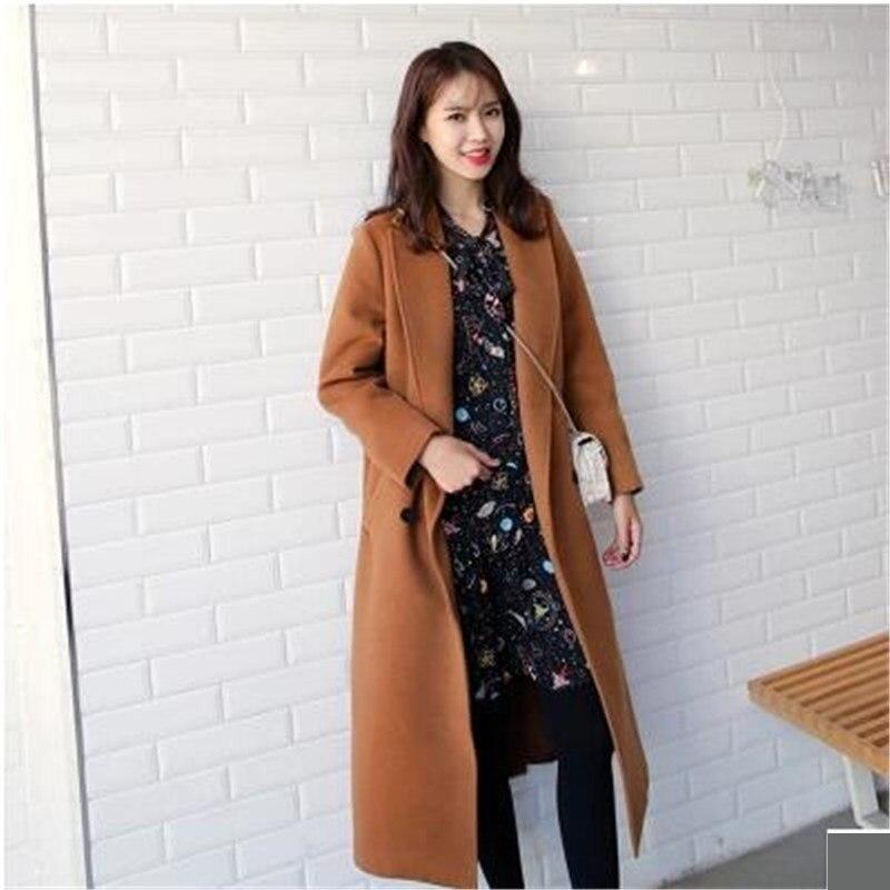 Grande Color Femmes Haute Vêtements Tempérament Laine Lâche 668 Du Mode Manteau Picture Cachemire Nouveau Corée Taille Yagenz Sud Hiver Qualité De 1R7wIq
