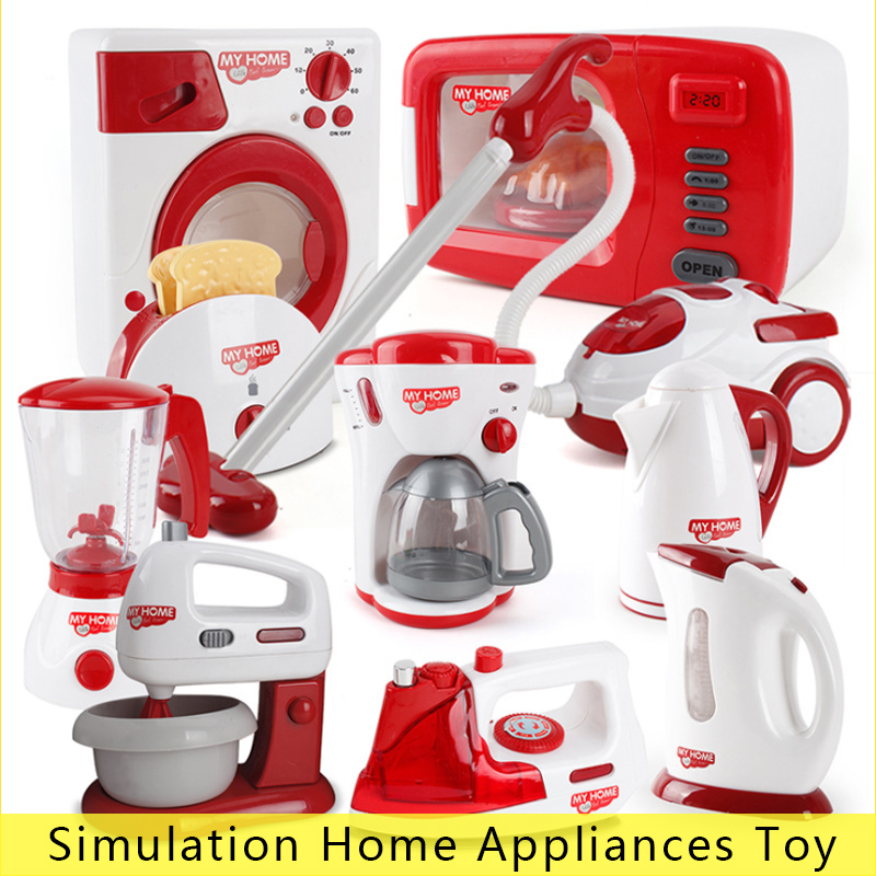 1 Pc Clean Up Toy Pretend Play Toy Vacuum Cleaner Housekeeping Toys Cleaning Washing Machine Play House Toy Baby Girl Gift D21
