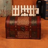 gushifu Wooden box Vintage style Jewelry Pearl Necklace Bracelet Gift Small zakka Box Storage Organizer Handmade box