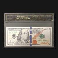 Nieuwe Producten Voor Zilver Amerikaanse Bankbiljet 100 dollarbankbiljet in 24 k Verzilverd met COA Frame Voor Collection|Gouden Bankbiljetten|   -